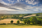 Beautiful Sky Above Summer Countryside, Raddon Hill, Crediton, Devon, England. Summer Reproduction photographique par Adam Burton