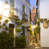 Spain, Andalusia, Cordoba. Calleja De Las Flores (Street of the Flowers) in the Old Town, at Dusk Fotografie-Druck von Matteo Colombo