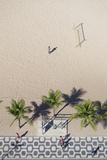 Aerial View of Ipanema Beach, Rio De Janeiro, Brazil Impressão fotográfica por Ian Trower