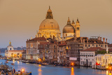 Santa Maria Della Salute Church and Grand Canal at Sunset, Venice, Veneto, Italy Photographic Print by Stefano Politi Markovina