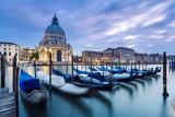 Italy, Veneto, Venice. Santa Maria Della Salute Church on the Grand Canal, at Sunset Fotografisk trykk av Matteo Colombo