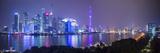 Pudong Skyline across the Huangpu River, the Bund, Shanghai, China Fotografie-Druck von Jon Arnold