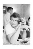 Johnny Hallyday Having a Drink with Some Friends Fotoprint van Richard Bouchara