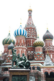 Saint Basil'S Cathedral on the Red Square, Moscow, Russia Reproduction photographique par Nadia Isakova
