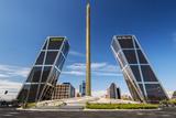 Plaza De Castilla with Puerta De Europa Twin Towers, Madrid, Comunidad De Madrid, Spain Photographic Print by Stefano Politi Markovina