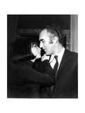 Juliette Gréco and Michel Piccoli in 1968 Fotoprint van Marcel Begoin
