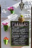 Spain, Andalusia, Cadiz Province, Tarifa. Outdoor Cafè in the Old Town Fotografie-Druck von Matteo Colombo