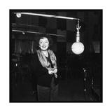 Edith Piaf Recording Fotografie-Druck von  DR