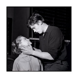 Romy Schneir and Alain Delon Sharing a Moment, 1960'S Reproduction photographique par Marcel Begoin