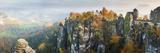 Bastei Bridge, Elbe Sandstone Mountains, Saxon Switzerland National Park, Germany Fotografie-Druck von Peter Adams