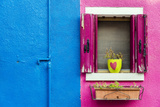Picturesque Colourful Detail of a Painted House in Burano, Veneto, Italy Photographic Print by Stefano Politi Markovina