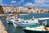 Quay in Sitia, Crete, Greece Fotografisk tryk af  katvic
