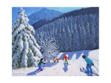 Snow Covered Trees, La Clusaz, France, 2015 Impressão giclée por Andrew Macara