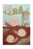 Snails and Fern, 2014 Impressão giclée por Megan Moore