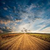 Rural Road to Horizon Fotografisk trykk av Alexey Rumyantsev