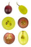 Collage of Sliced Red and Green Grapes Photographic Print by  YellowPaul