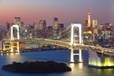 View of Tokyo Bay Area at Twilight Reproduction photographique par  Torsakarin