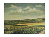 Arundel Castle from the Downs, 1995 Giclee Print by Margaret Hartnett