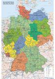 Landkarte von Deutschland Poster