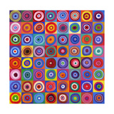 In Square Circle 64 after Kandinsky, 2012 Impressão giclée por David Newton