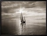 Diamond Head Yacht in Swiftsure Race Print by Ray Krantz