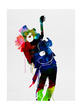 Slash Watercolor Metalldrucke von Lora Feldman