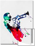 Miles Watercolor Poster von Lora Feldman