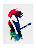 Taylor Watercolor Metal Print by Lora Feldman