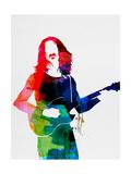Frank Watercolor Poster di Lora Feldman