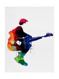 The Police Watercolor Kunst på metal af Lora Feldman