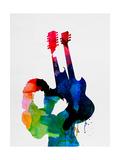 Jimmy Watercolor Metalldrucke von Lora Feldman