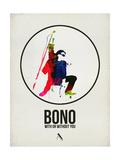 Bono Watercolor Prints by David Brodsky