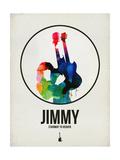 Jimmi Watercolor Kunstdrucke von David Brodsky