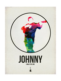 Johnny Watercolor Affiches par David Brodsky