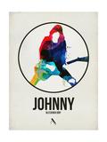 Johnny Watercolor Circle Schilderij van David Brodsky