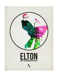 Elton Watercolor Art by David Brodsky