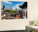 Yuyuan Gardens and Bazaar with the Shanghai Tower Behind, Old Town, Shanghai, China Wall Mural by Jon Arnold