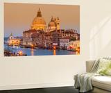 Santa Maria Della Salute Church and Grand Canal at Sunset, Venice, Veneto, Italy Fototapete von Stefano Politi Markovina