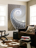 Spiral Staircase, the Queen's House, Greenwich, London, UK Poster géant par Peter Adams