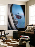 Airbus A340 Aircraft, View Out of the Window with Engine and Wing Wall Mural by Jon Arnold