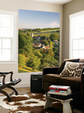 Cottages Nestled into the Valley in Picturesque Cotswolds Village of Naunton, England Wall Mural by Adam Burton