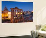 Roman Forum (Unesco World Heritage Site) at Dusk, Rome, Lazio, Italy Wall MuralIan Trower