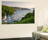 Pont Pill, Polruan and the Fowey Estuary from Hall Walk Near Bodinnick, Cornwall, England. Summer Mural por Adam Burton