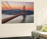Morning Sky and South Tower, Golden Gate Bridge Wall Mural by Vincent James