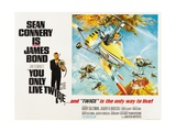 007, James Bond: You Only Live Twice, 1967 Giclée-tryk