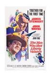 The Man Who Shot Liberty Valance, 1962 Gicléedruk