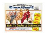 How to Marry a Millionaire, 1953 Reproduction procédé giclée
