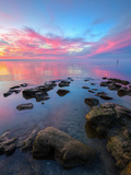 Divine Sunset Scene at San Pablo Bay Metalldrucke von Vincent James