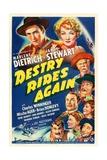Destry Rides Again, 1939 Giclee-trykk