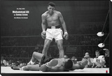 Muhammad Ali vs. Sonny Liston Framed Print Mount